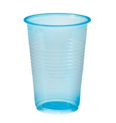 Copo de Plastico Azul Transp. PP 230ml (100 Unidades)