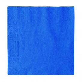 Guardanapos Papel 2 Folhas Azul 33x33cm (50 Uds)