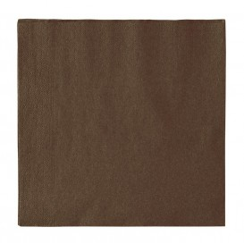 Guardanapos Papel 2 Folhas Chocolate 33x33cm (50 Uds)