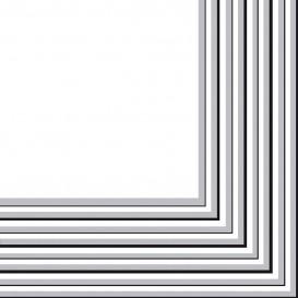 Guardanapos Papel Prata 2 Folhas 33x33 cm (20 Uds)