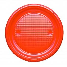 Prato Plastico PS Raso Laranja Ø170mm (50 Unidades)