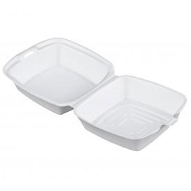 Embalagem Foam Hamburguer Branco 150x150x80mm (500 Uds)