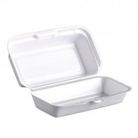Embalagem Foam HotDog Branco 180x100x60mm (500 Uds)