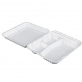 Embalagem Foam MenuBox 3 C. Branco 200x190mm (100 Uds)