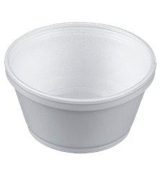 Taça Isopor Branca 8OZ/240ml Ø108mm (50 Unidades)