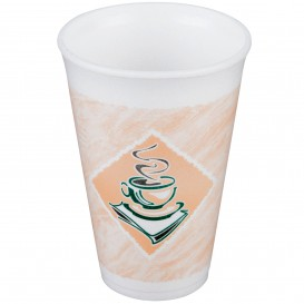 "Copo Termico Foam EPS ""Café"" 16Oz/473 ml (25 Unidades)"