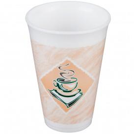 "Copo Termico Foam EPS ""Café"" 12Oz/360ml Ø8,9cm (20 Unidades)"