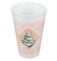 "Copo Termico Foam EPS ""Café"" 12Oz/355 ml (20 Unidades)"