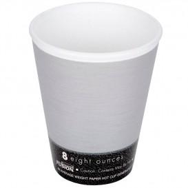 """Copo Termico Foam EPS """"Fusion"""" Cinza 9Oz/266ml Ø8,1cm (1000 Uds)"""