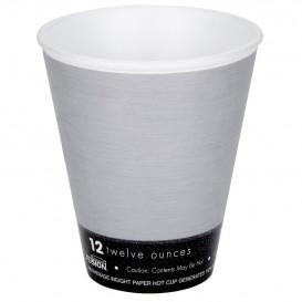 """Copo Termico Foam EPS """"Fusion"""" Cinza 12Oz/355ml Ø9,4cm (25 Uds)"""