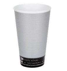 "Copo Termico Foam EPS ""Fusion"" Cinza 20Oz/591ml Ø94mm (20 Unidades)"