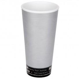 "Copo Termico Foam EPS ""Fusion"" Cinza 24Oz/710ml (500 Unidades)"