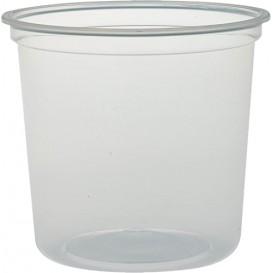 """Embalagem Plastico PP """"Deli"""" 24Oz/710ml Transp. Ø120mm (500 Uds)"""