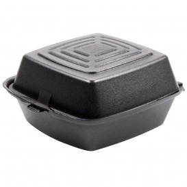 Embalagem Foam Hamburguer Preto 150x150x80mm (125 Uds)