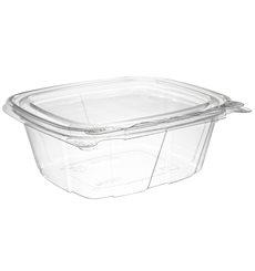 Embalagem Inviolável de Plastico PET Tampa Plana 355ml (100 Uds)