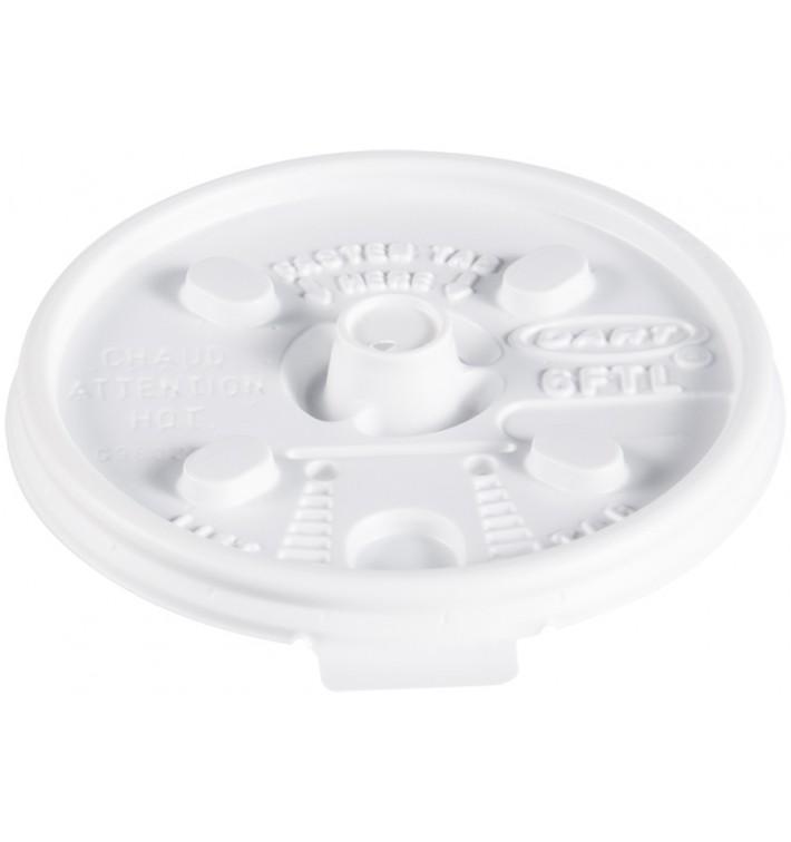 """Tampa de Plastico PS """"Lift n' Lock"""" Branco Ø7,4cm (1000 Uds)"""