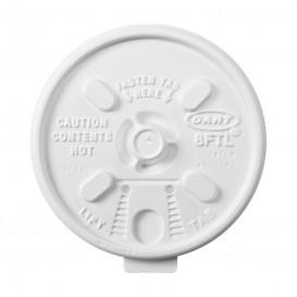 "Tampa de Plastico PS ""Lift n' Lock"" com Aba Branco Ø8,1cm (100 Uds)"