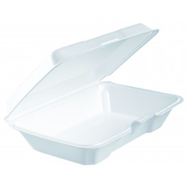 Embalagem Foam LunchBox Branco 230x150X65mm (200 Uds)