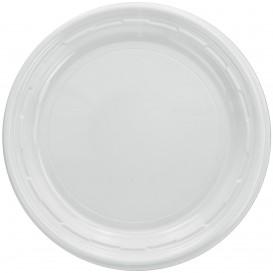"""Prato de Plastico PS """"Famous Impact"""" Branco Ø150mm (1000 Uds)"""