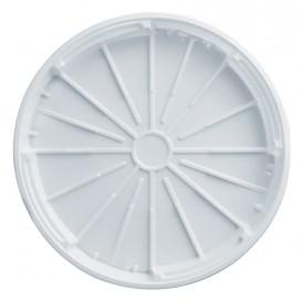 Cobertura Plástico PS Pizza Branco 320mm (100 Unidades)