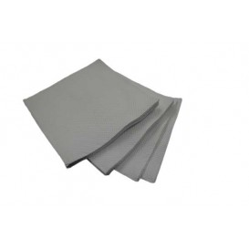 Guardanapos Papel Microdot Cinza 20x20cm (100 Uds)