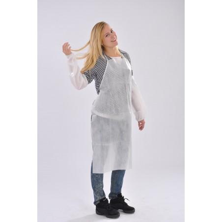 Avental TST PP Plastificado 60x84cm Branco (10 Uds)