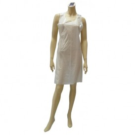 Avental Polietileno 76x120cm 37.5 Micron Branco (100 Uds)