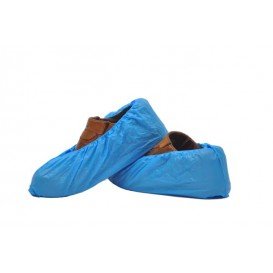 Cobre Sapatos em Polietileno 20 Microns Azul (100 Uds)