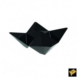 Copo Degustação Origami PS Preto 103x103mm (25 Uds)