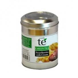 Chá Verde Morangos com Creme a Granel (100 Gramas)