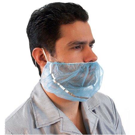 Protetor de barbas em TST polipropileno Azul Detetável (100 Uds)
