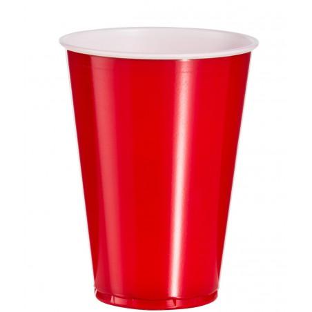 Copo Rígido de PET 10 Oz/300 ml Vermelho (50 Unidades)