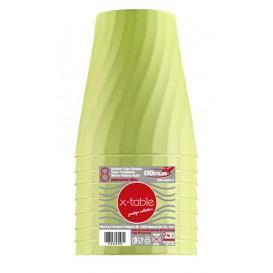"""Copo de Plastico PP """"X-Table"""" Limão 320ml (8 Unidades)"""