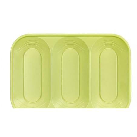 """Bandeja Plastico PP """"X-Table"""" Limão 330x230mm (60 Unidades)"""