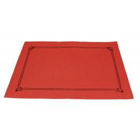 Toalhete Papel Mesa 30x40cm Vermelho Orla 40g (1.000 Uds)