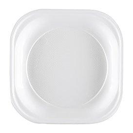 Prato Plastico PS Quadrado Branco 200x200mm (50 Unidades)