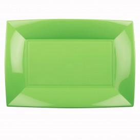 Bandeja de Plastico Verde Limão Nice PP 345x230mm (60 Uds)