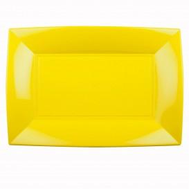 Bandeja de Plastico Amarelo Nice PP 345x230mm (6 Uds)