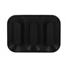 """Bandeja Plastico PP """"X-Table"""" 3C Preto 330x230mm (2 Unidades)"""