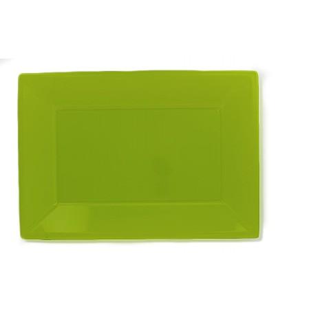 Bandeja Plastico Rectangular Pistache 330x225mm (3 Uds)