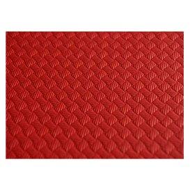 Toalha Papel Cortado Mesa Vermelho 1x1 Metro 40g (400 Uds)