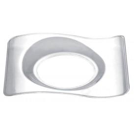 Prato Degustação Forma Transp. 8,0x6,6 cm (50 Unidades)