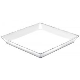 Bandeja Degustação Medium Branco 13x13 cm (12 Uds)
