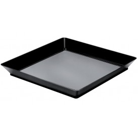 Bandeja Degustação Medium Preto 13x13 cm (12 Uds)