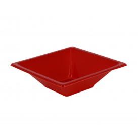 Tigela Plastico Quadrada Vermelho 120x120x40mm (720 Uds)