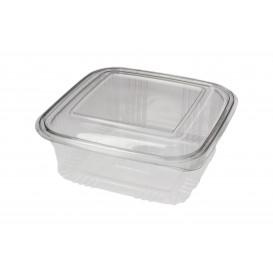 Embalagem Plastico Quadrado Tampa Bisagra PET 750ml (100 Uds)
