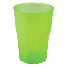 "Copo Plastico ""Frost"" Verde Limão PP 350ml (20 Uds)"