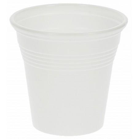 Vaso de Plastico PP Blanco 80 ml  (Paquete 100 unidades)