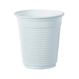 Copo de Plastico PS Branco 166ml Ø7,0cm (100 Unidades)