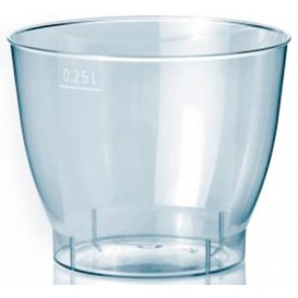 Copo Plastico Cristal Cool Cup PS 250ml (25 Uds)